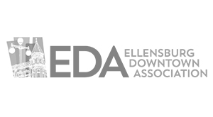 Ellensburg Downtown Association logo.