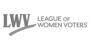 League of Women Voters logo.